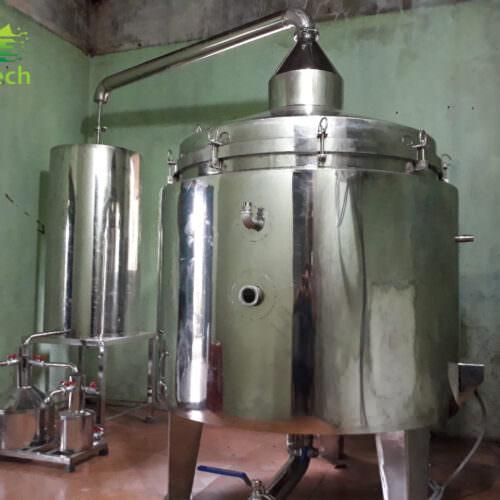 noi chung cat tinh dau 100 lit agritech