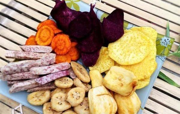 Sấy thằng hoa được ứng dụng để say cho nhiều thực phẩm khác nhau